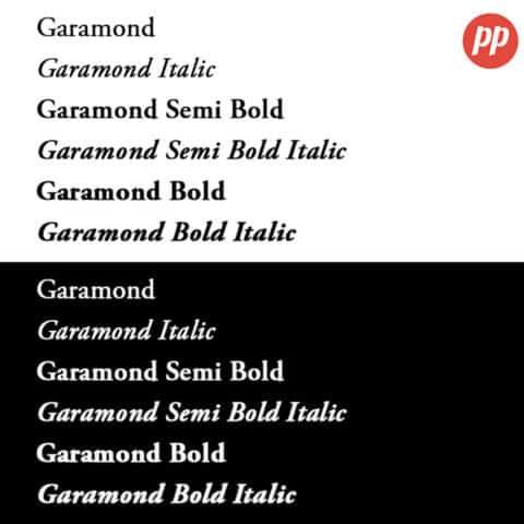 Proof Positive - Garamond Font