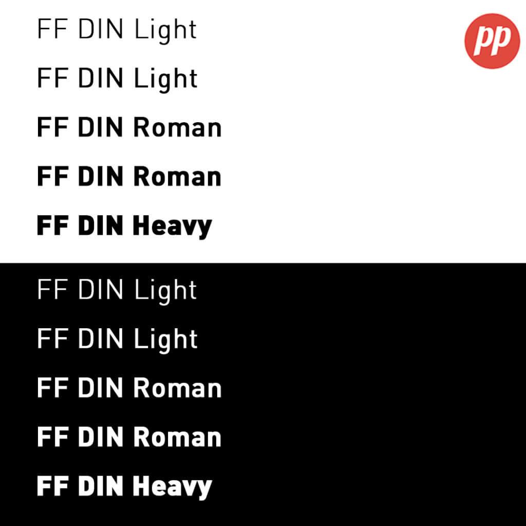 Proof Positive - FF Din Font