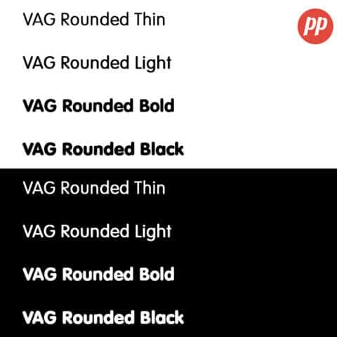 Proof Positive - VAG Rounded Font