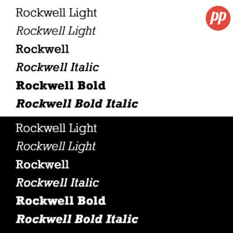 Proof Positive - Rockwell Font