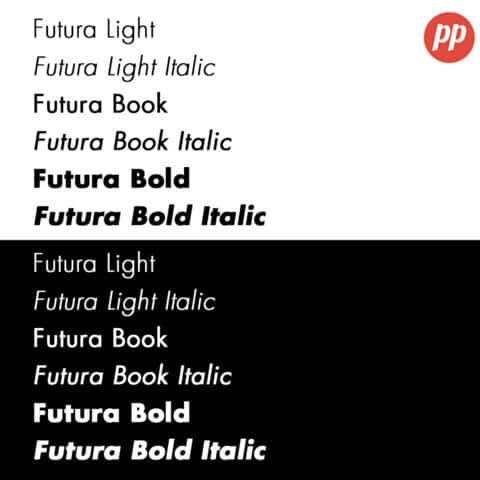 Proof Positive - Futura Font