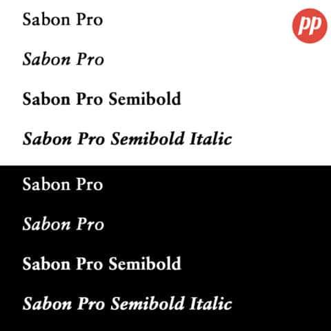 Proof Positive - Sabon Font